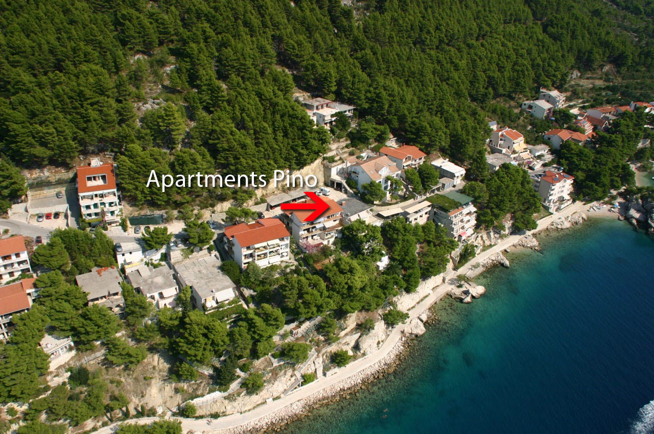 Apartments Pino aerial